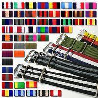 18mm nylon watch Military band strap ,60multi color zulu