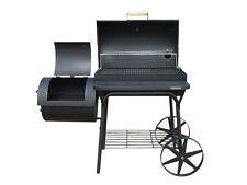B-WARE KIUG® XXL 90kg-Smoker BBQ GRILLWAGEN Holzkohle Grill  3,5 mm Stahl