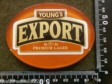 PERSPEX BEER PUMP CLIP - YOUNGS EXPORT LAGER