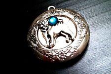 Pug Dog Photo Locket Pendant w Sterling Silver 925 Chain Necklace dog pet animal