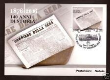 Corriere della Sera - 2016 - Cartolina Filatelica Ufficiale Poste Italiane