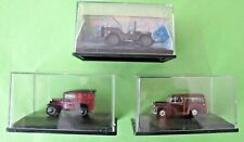 3 Oxford Diecast & Cararama 1/76 Vehicles - Austin 7, Morris Minor, Jeep  (3063)