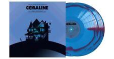 Coraline Motion Picture Vinyl Record Soundtrack Purple Blue Swirl 2 LP Mondo