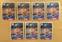 Jamie Moyer Rookie 1987 Topps #227 (7) Cards Chicago Cubs