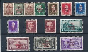 [33542] Albania 1943 Good lot Very Fine MH stamps