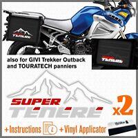 2x Adesivi Bianco Rosso Grigio compatibile con Yamaha XT 1200 Z Super Tenere