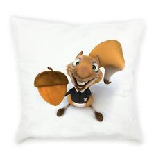 """Cute Squirrel Printed Pillow Case Square Sofa Waist Throw Cushion Cover 18"""" x18"""""""