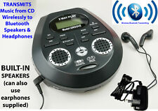 More details for steepletone groove cd discman player, speaker, earphones, bluetooth transmitting