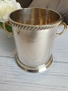 VINTAGE L.Ltd SILVER PLATE Plated WINE COOLER HOLDER Classical Straight Sides