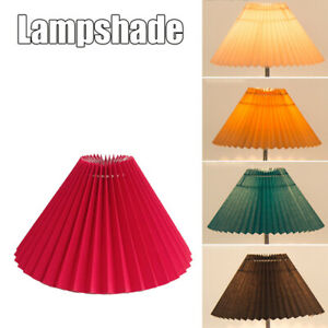 Pleated Lampshade E27 Light Cover Japanese Style Fabric Table Lamp Ceiling Decor