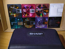 minidisc carry case and 8 used discs