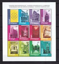 Belgien 1998 postfrisch im Bogen MiNr. 2815-2826  Europäische Denkmaltage