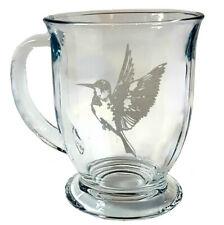 Hummingbird Coffee Mug: Free Personalization, 16 ounce Glass Tea Cup Custom