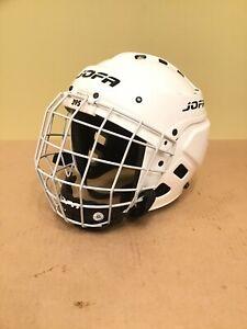 "Jofa White 395 JR sz 6 1/2""-7 1/4"" Ice Hockey Helmet W/ 386 JR Cage Mask"