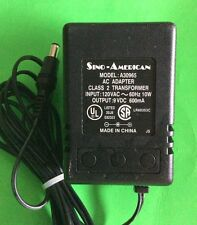 LOT OF 20 Sino-American A30965 Power Supplies AC Adapter 9Vdc 600mA TESTED