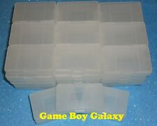50 Clear Plastic Cases Nintendo Game Boy Advance gba games cartridge dust covers