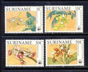 Suriname WWF Orchid set Scott 773-6 mnh vf 49.50