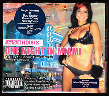 ONE NIGHT IN MIAMI - 24 HOURS - 15 DANCE ANTHEMS - NEW & SEALED CD +  DVD SET