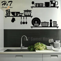 Kitchen Art Removable Vinyl Wall Sticker Decal Mural Cafe Dining Room Home Decor