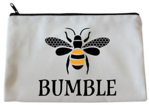 White BUMBLE BEE Accessory/Pencil Case/Make Up/Cosmetics Bag