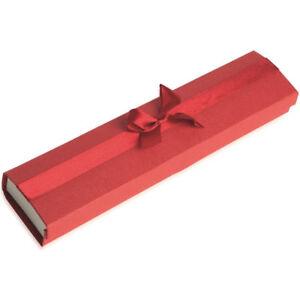 Écrin pour Bracelet - ROUGE - Boite Cadeau Nœud Ruban - Bijoux