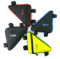 Sport Bicycle Bike Storage Bag Triangle Saddle Frame Strap-On Pouch for Cycling