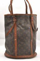Authentic Louis Vuitton Monogram Bucket GM Shoulder Bag Old Model LV B1527