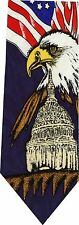 WHITE HOUSE AMERICAN EAGLE FLAG NEW NOVELTY TIE