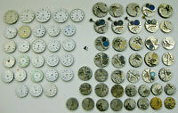 Lot #4 VINTAGE PARTIAL POCKET WATCH MOVEMENTS-SOME WITH DIALS & SOME NOT