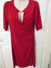 NWT - CONNECTED Beautiful Red knit dress - sz 8 - MSRP $60.00