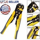 Wire Cutter Crimper Cable Strippers Pliers Self Adjusting Hand Terminal Electric