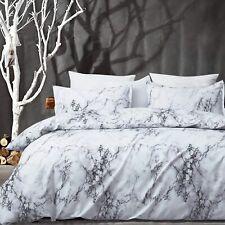 Uozzi Bedding 3 Pieces Marble White Duvet Cover Set (1 Queen Duvet Cover + 2 Pil