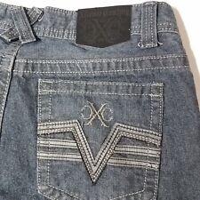 Men's Xtreme Couture Distressed 100% Cotton Dark Blue Jeans 30 x 29