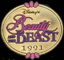 Disney Beauty & The Beast Marquee 1991 Cast Lanyard Series Pin