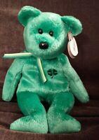 """TY Beanie Babies """"Dublin"""" USA 8"""" with tags Teddy Bear ST. Patrick's Clover"""