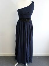 H&M Long dress Dark Blue Ladies UK Size 8 Box12 15 c