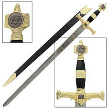 King Solomon Medieval Crusader Replica Longsword - Black