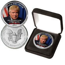 Donald Trump Elected 45th President Colorized Silver Eagle