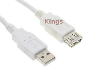 Fully Rated 3 Meter USB 2.0 A Male to A Female Extension Cable 3m Extension Lead
