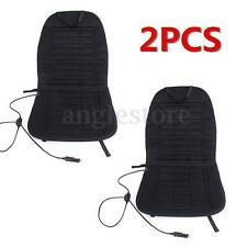 2PCS 12V Car Front Seat Hot Cover Heater Heated Pad Cushion Warmer Winter Black
