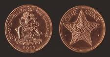 BAHAMAS 1 CENT 2001 STARFISH - COMMONWEALTH FDC/UNC FIOR DI CONIO