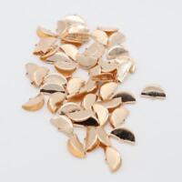 100pcs Clamps Necklace Clip Ribbon Ends Over Crimp Cord Cap Tips 20mm Gold
