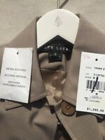 Ralph Lauren Black Label Beige Gray Wool Long Jacket Coat $1295 Made USA NWT 8