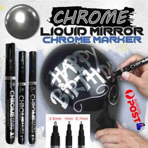 0.7/1/3mm Nib Silver Art Liquid Mirror Chrome Marker Pen Smooth Long-Lasting