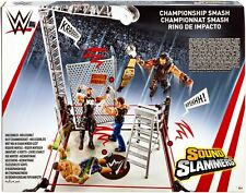 WWE Sound Slammers CHAMPIONSHIP SMASH RING Playset Wrestling Toy