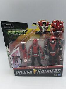 "Power Rangers Beast Morphers Red Ranger & Morphin Cruise Beast Bot 6"" Figure New"
