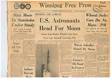 US ASTRONAUTS HEAD FOR MOON Saturn Super Rocket Cape Kennedy July 16 1969 B1