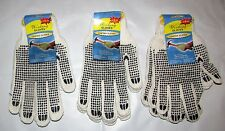 TWO PAIR DOUBLE GRIP WORK CONSTRUCTION GARDEN AUTOMOTIVE GLOVES