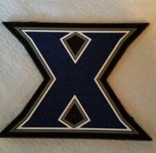 "X PVC Patch Navy Blue - White Trim - Sew On - 2 1/2"" Tall x 3"" Wide"