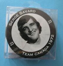 TEAM CANADA/NHL 1972 TEAM OF THE CENTURY HOCKEY PUCK / SERGE SAVARD #23 / NEW